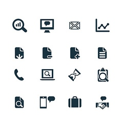 Set of analytics research icons vector