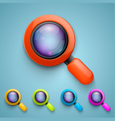 Set of magnifying glass vector