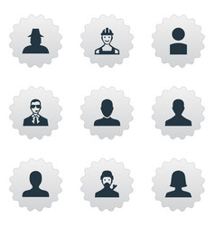 set of simple human icons vector image