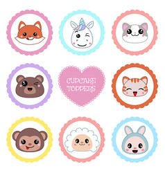 set of tags with animal theme set of tags with vector image