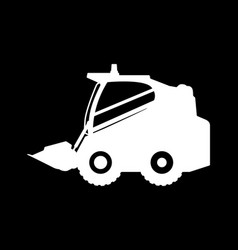 silhouette the loader on a white background vector image