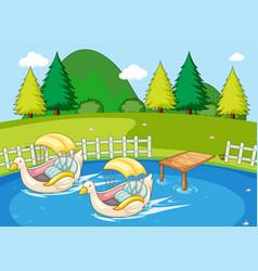 simple nature park landscape vector image