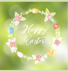 spring easter greeting card invitation floral vector image vector image