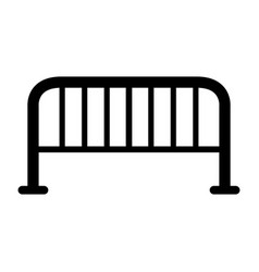 steel barrier icon vector image