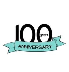 Template Logo 100 Years Anniversary vector image