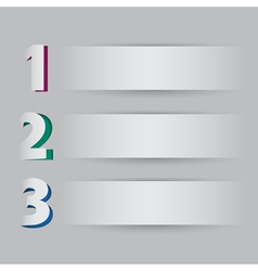 Three steps on light background vector