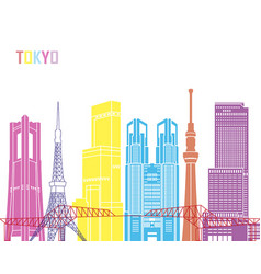 tokyo v3 skyline pop vector image