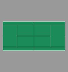 Top view tennis court vector