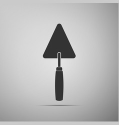 trowel icon isolated on grey background vector image