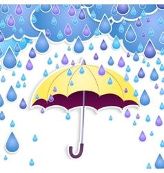 umbrella and rain drops vector image