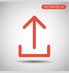 upload icon red color eps 10 vector image
