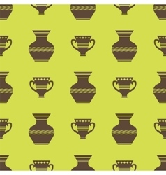 Vases Silhouettes Seamless Pattern vector image