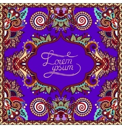 Violet colour decorative pattern of ukrainian vector