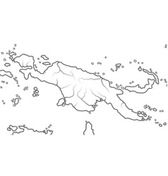 World map papua new guinea australasia vector