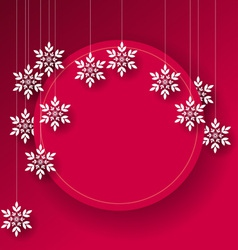 Abstract Christmas card background vector image