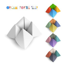 Colorful origami Fortune Teller vector image vector image