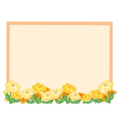 Flowers and a light orange board vector image