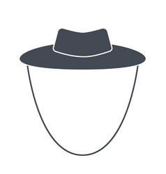 garden or cowboy hat isolated vector image