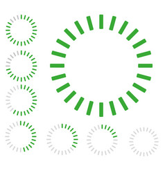 green round pre-loader vector image vector image