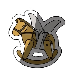 Isolated toy horse damaged design vector image vector image