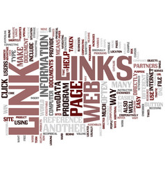 Links text background word cloud concept vector