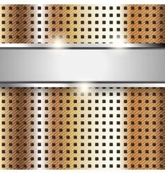 Metal surface copper iron texture background vector image