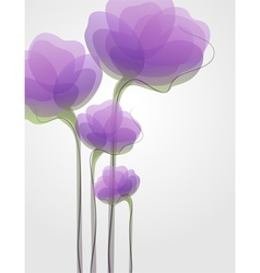 purple flowers - elegant design vector image vector image