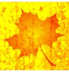 Single Orange Mosaic Autumn Leaf vector image vector image