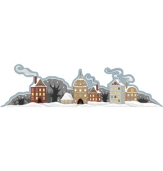 Town Winter Isolated vector image