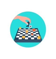 Chess board Content strategy vector image