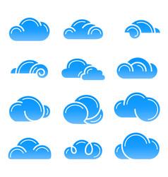 cloud logo symbol sign icon set design vector image vector image
