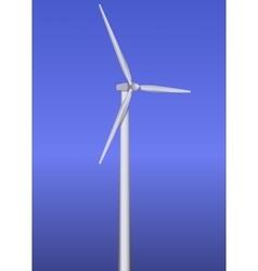 Isolated wind turbine vector image