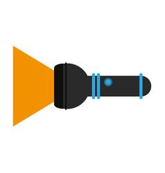 lit flashlight icon image vector image vector image