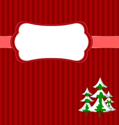 Christmas frame with firs vector image