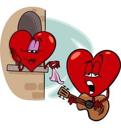 heart love song cartoon vector image