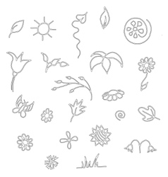 Seamless floral spring doodle pattern vector image vector image