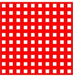 White cages on red background seamless pattern vector image