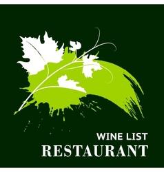 Wine grunge background vector image