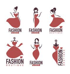 Fashion and beautysalon studio boutique logo and vector