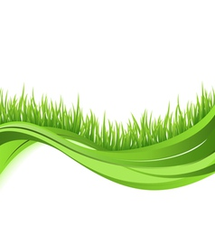Green grass nature wave background vector image vector image