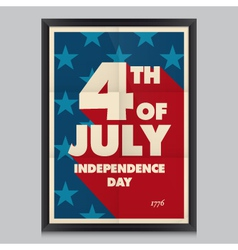 Happy independence day poster vector image vector image