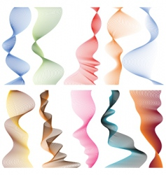 set of linear banners vector image vector image