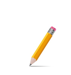 Sharpened wooden pencil with shadow on white vector image