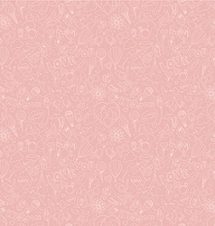 Valentines Day pattern Sketch style vector image vector image