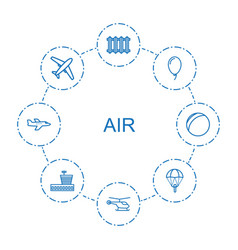 8 air icons vector