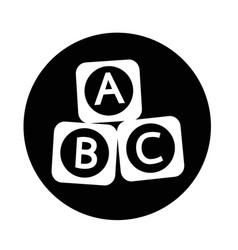 a b c baby toy brick block icon vector image