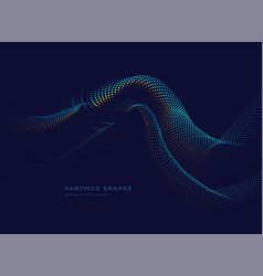 abstract particle dynamic wave hill background vector image