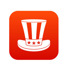 american hat icon digital red vector image