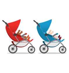 baby strollers vector image