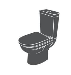 Badge toilet glyph icon vector